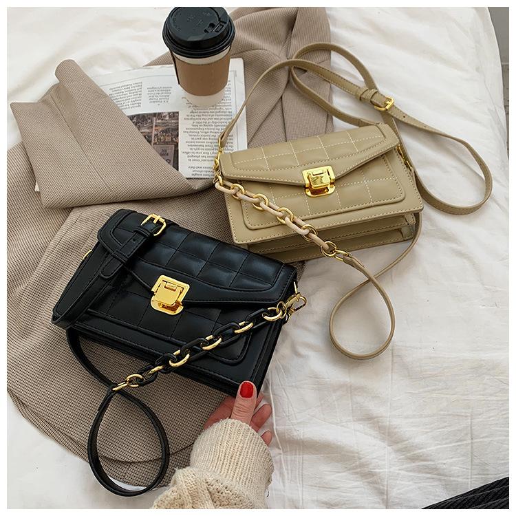 Fashion Checked Small Square Bag  NHLH316371