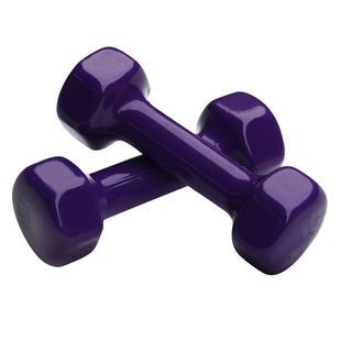 Sports Goods Wholesale Glossy Hexagonal Frosted Dipping Ladies Hand Bell Cast Iron Coated Rubber Dipping Dumbbell Fitness Equipment