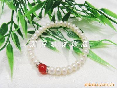 自然淡水珍珠手镯 珍珠手链 厂家直销