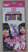 廠家直銷報紙彩色環保鉛筆 表面套膜圖案可定制   彩色鉛筆套裝
