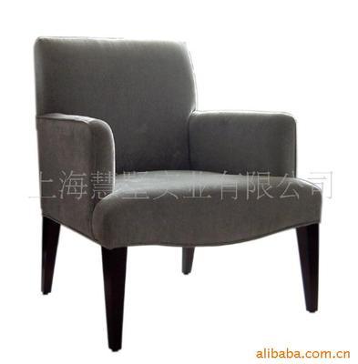 【大量供应】休闲椅咖啡椅实木软包椅酒店大堂椅 慧墅实木大堂椅