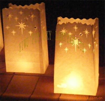 厂家直销纸蜡烛袋、防火 环保出口蜡烛袋  经过防火安全CE认证